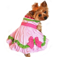 Pink Watermelon Small Dog Harness Dress f91115917