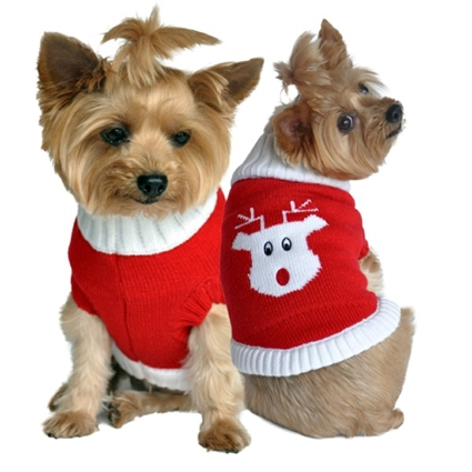 Christmas Rudolph Holiday Dog Sweater