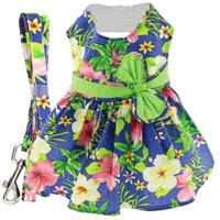 Hawaiian Hibiscus Dog Harness Dress