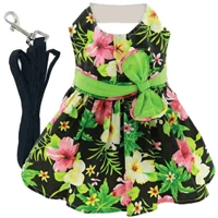 Twilight Hibiscus Dog Harness Dress