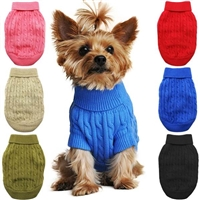 Cotton Cable Knit Dog Sweaters