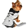 Faux Leather Bomber Dog Coat Jacket