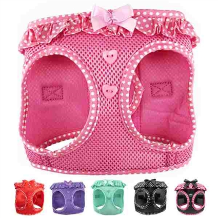 Polka Dot Frilly Dog Harness | Ultra Choke Free