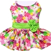 Pink Hawaiian Floral Dog Harness Dress