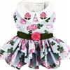 Pink Roses Dog Harness Dress