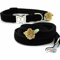 Black Velvet Small Dog and Cat Collars | Formal Affair