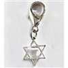 Star of David Dog Cat Collar Charms - Sterling Silver