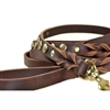 Sputnik Braided Leather Dog Leash