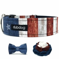 Freedom Dog Collar or Martingale Collar | American Flag