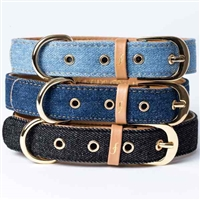 Friendship Dog Collars | Denim Dog Collars | Vegan Leather