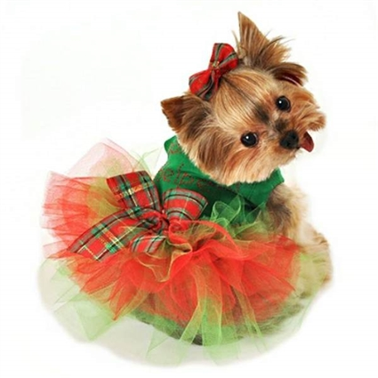 Santas Helper Christmas Tutu Dog Dress