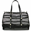 Luxury Dog Cat Carrier Tote | Gladiator | Black Mesh