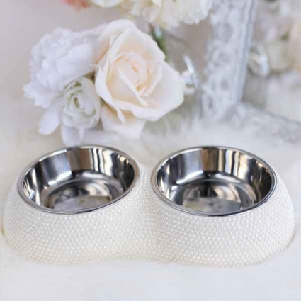 Fancy Pearl Pet Dining Bowl | Dog Bowl | Cat Bowl