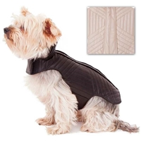 Leather Dog Coat | Quilted