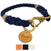 Personalized Leather ID Tag Dog Collar