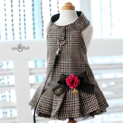Urban School Girl Dog Harness Dress