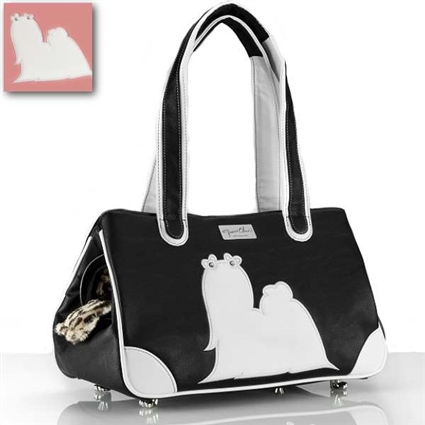 Maltese Luxury Dog Purse | Airline Approved