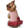 Pretty in Pink Alpaca Small Dog Sweater Dress