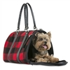 Buffalo Plaid Wool Dog Carrier