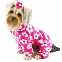 Big Blossoms Fleece Dog Pajamas