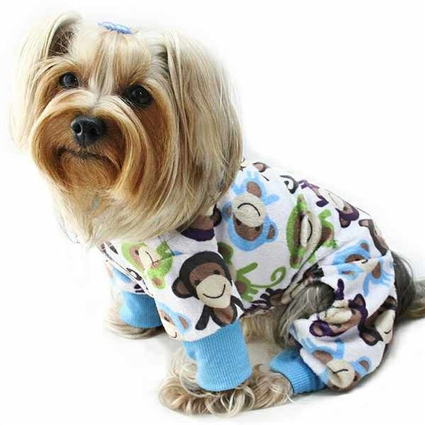 Minky Monkey Dog Pajamas