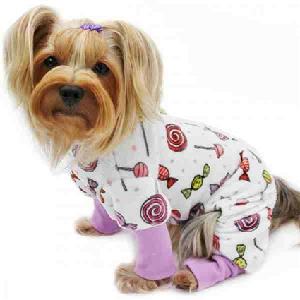 Sweeter Than Candy Plush Dog Pajamas | Onesies