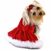 Elegant Red Velvet Christmas Dog Dress