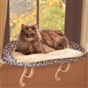 Deluxe Kitty Sill cat bed with Leopard Print Bolster
