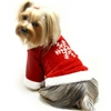 Red Velour Holiday Dog Shirt