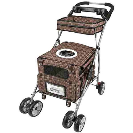 Kittywalk Flying Dog Pet Stroller Royale  | KWPSROY55