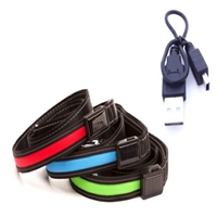 LED USB/SOLAR Rechargable Dog Leash
