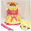 Little Chick Small Dog Harness Dress Set