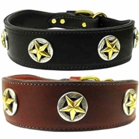 Lone Star Leather Dog Collar | 2 inch wide