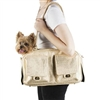 Gold Croc Luxury Purse Style Dog Carrier