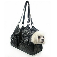 Quilted Metro Luxury Dog Cat Pet Purse Carrier