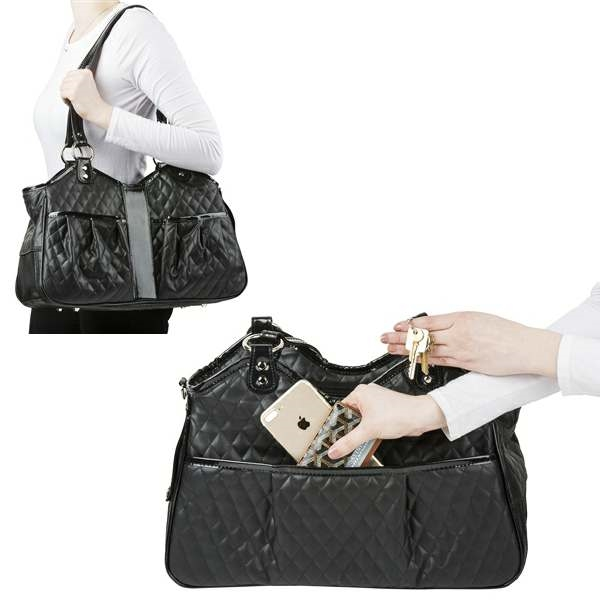 721d0cbf28 A luxurious purse style pet carrier made from soft quilted ...