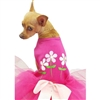 Fuchsia Flower Dog Tutu Dress