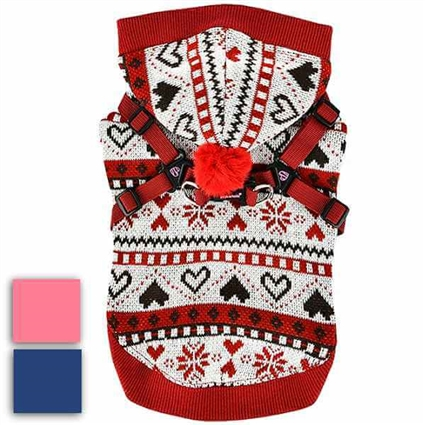 Joy Dog Sweater Coat with Harness