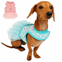 Polka Dot Small Dog Harness Dress