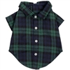 Flannel Dog Shirt | Black Watch Plaid