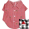 Christmas Plaid Flannel Dog Shirt