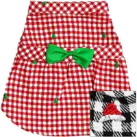 Plaid Flannel Christmas Dog Dress