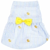 Yellow Duckie Seersucker Dog Dress