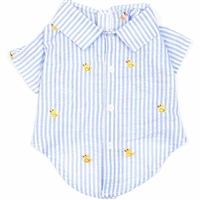 Yellow Duckie Dog Shirt | Seersucker