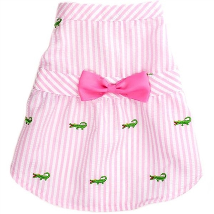 Pink Preppy Dog Dress
