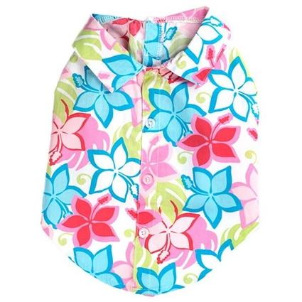 Hawaiian Hibiscus Dog Shirt