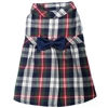 Flannel Dog Dress | Navy Blue Plaid