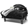 Black Shag Luxury Dog DayBed | Pet Bed