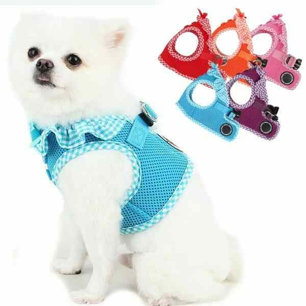 Frilly Small Dog Harness   Step-in   Vivien by Puppia