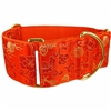 Orange Dragons Martingale Designer Dog Collar | Greyhound Collar
